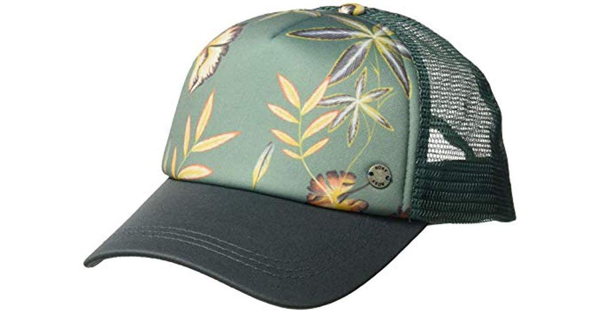 Lyst - Roxy Water Come Down Trucker Hat in Green 36b53ee59b0b