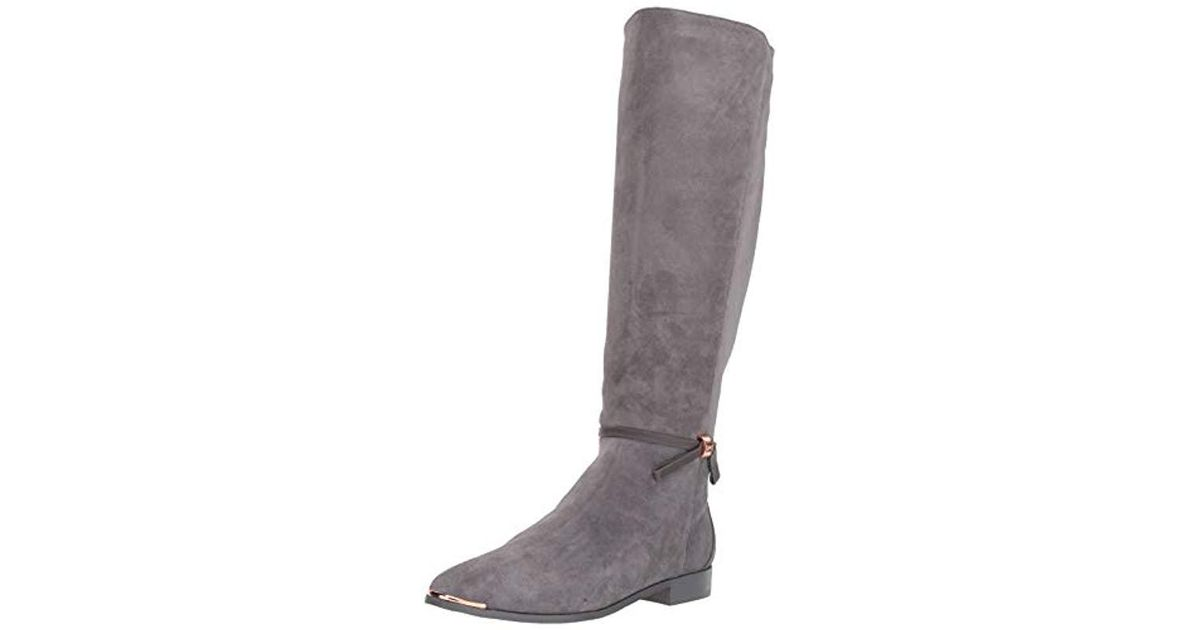 402cc9824443 Lyst - Ted Baker Lykla Over The Over The Knee Boot in Gray