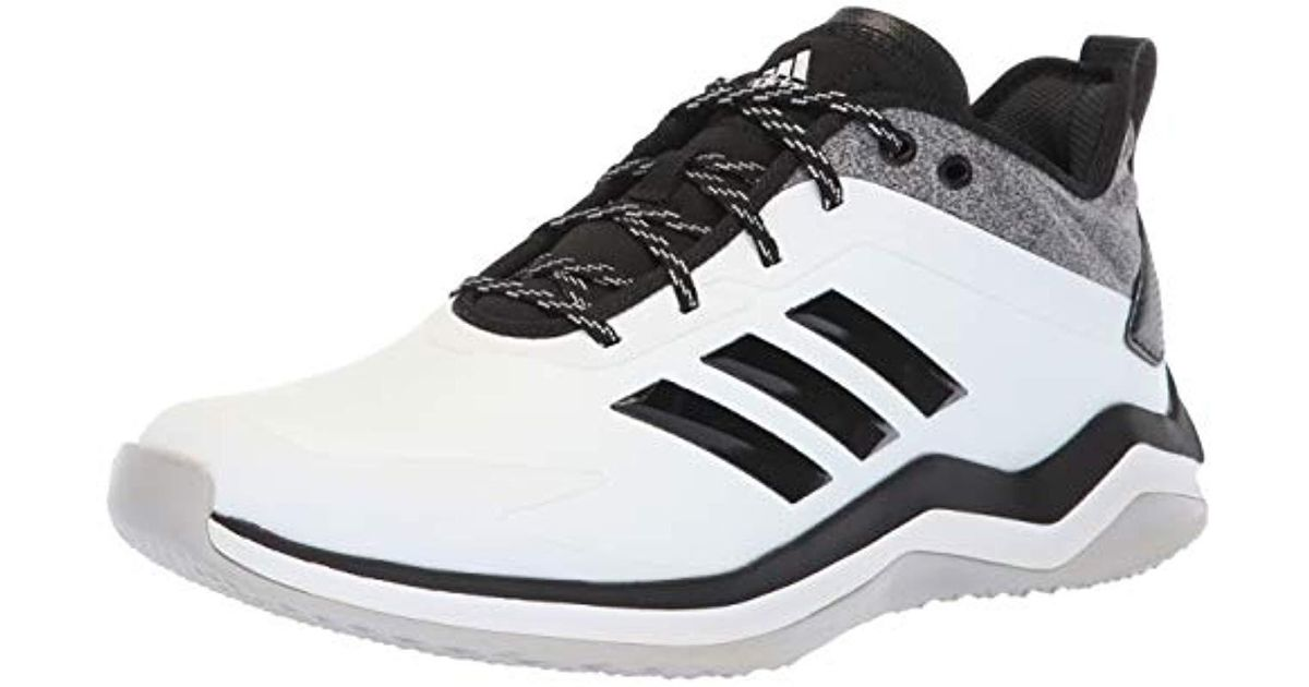 5d1ba1607f72b Adidas - Speed Trainer 4 Baseball Shoe, Crystal White/black/carbon, 17 M Us  for Men - Lyst