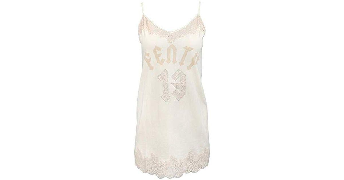 2004ea2d2f6f Lyst - Puma Fenty Lace Trim Sleepwear Teddy