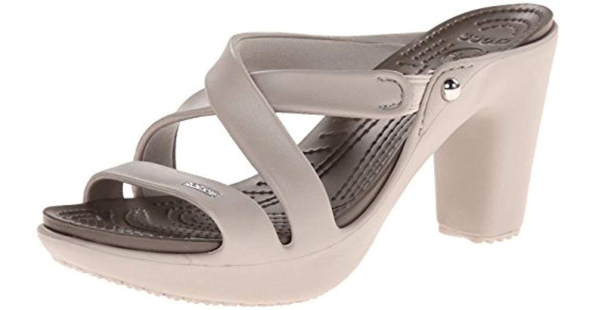 9aa32db429 Crocs™ Cyprus Iv Heel - Lyst