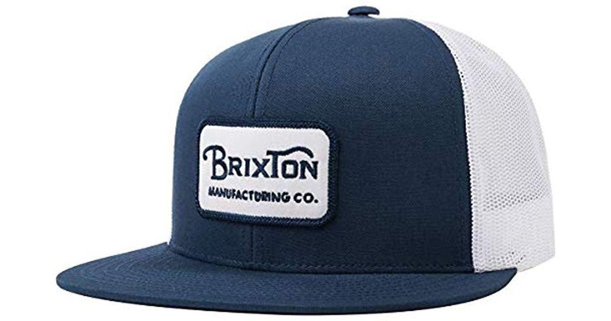 Lyst - Brixton Grade High Profile Adjustable Mesh Hat in Blue for Men d1cca6c6b28b