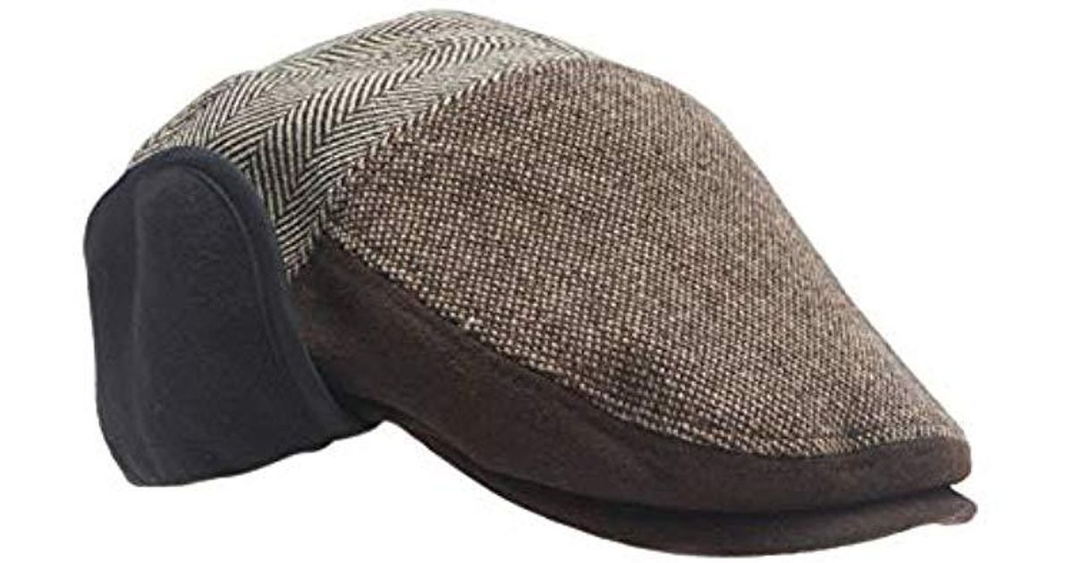 Lyst - Dockers Ivy Newsboy Hat With Earflaps in Brown for Men f0f5e87ad75