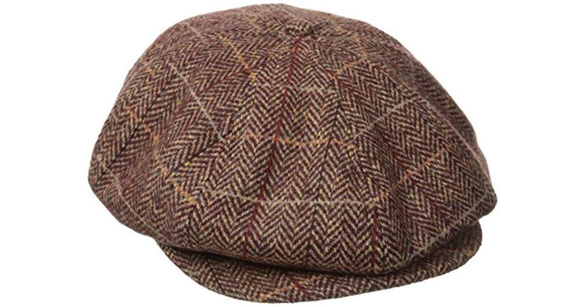 ecc53fd6017 Lyst - Brixton Brood Newsboy Snap Hat in Brown for Men