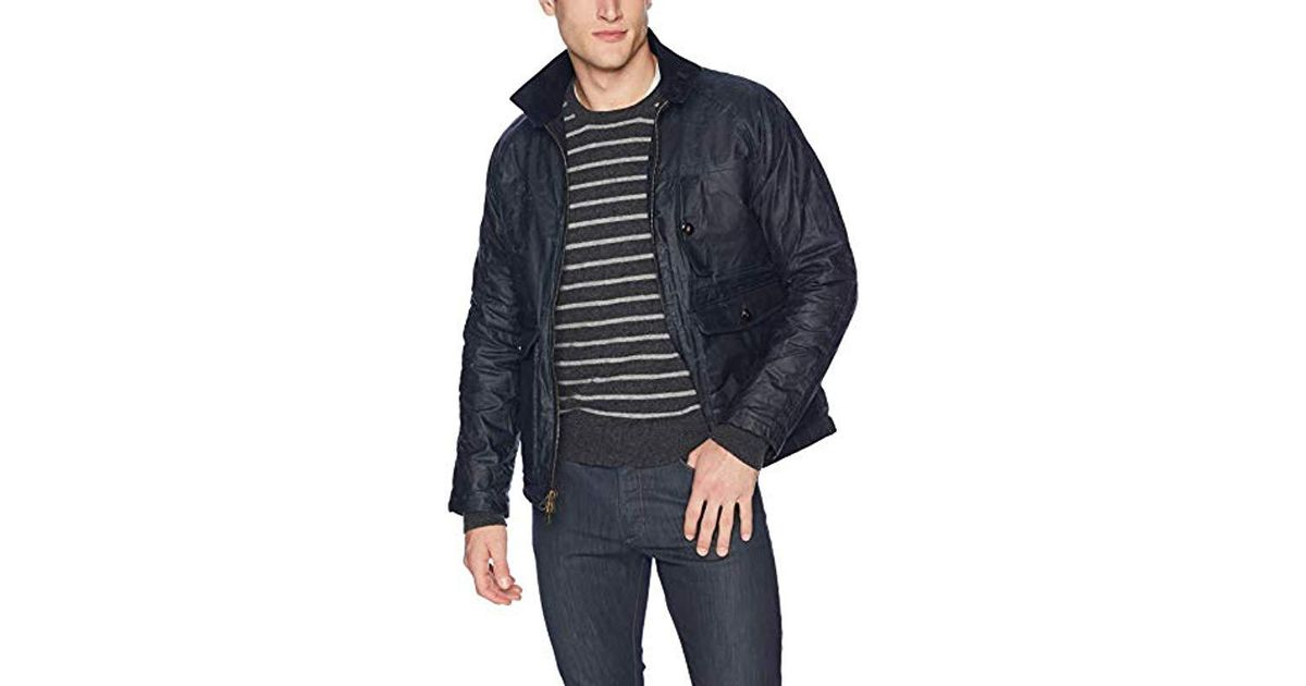 ef28f8bfc9 Lyst - Billy Reid Waxed Cotton Water Resistant Fully Lined Dempsey Jacket  in Blue for Men