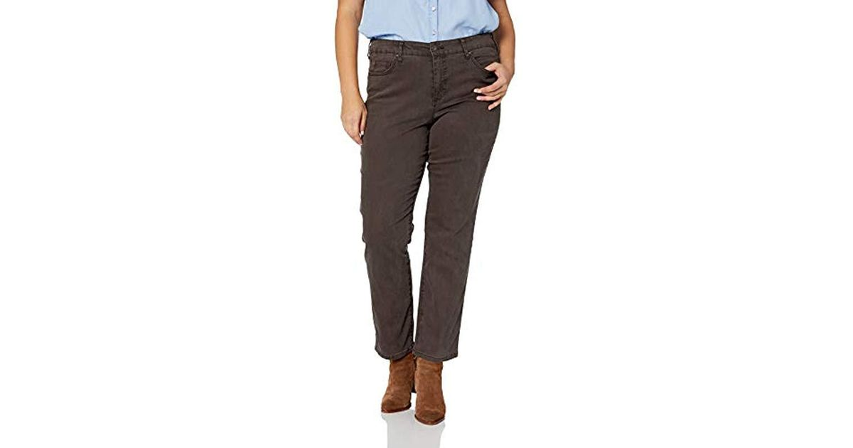 7a8c2dfded6 Lyst - Bandolino Plus Size Mandie Signature Fit 5 Pocket Jean in Brown