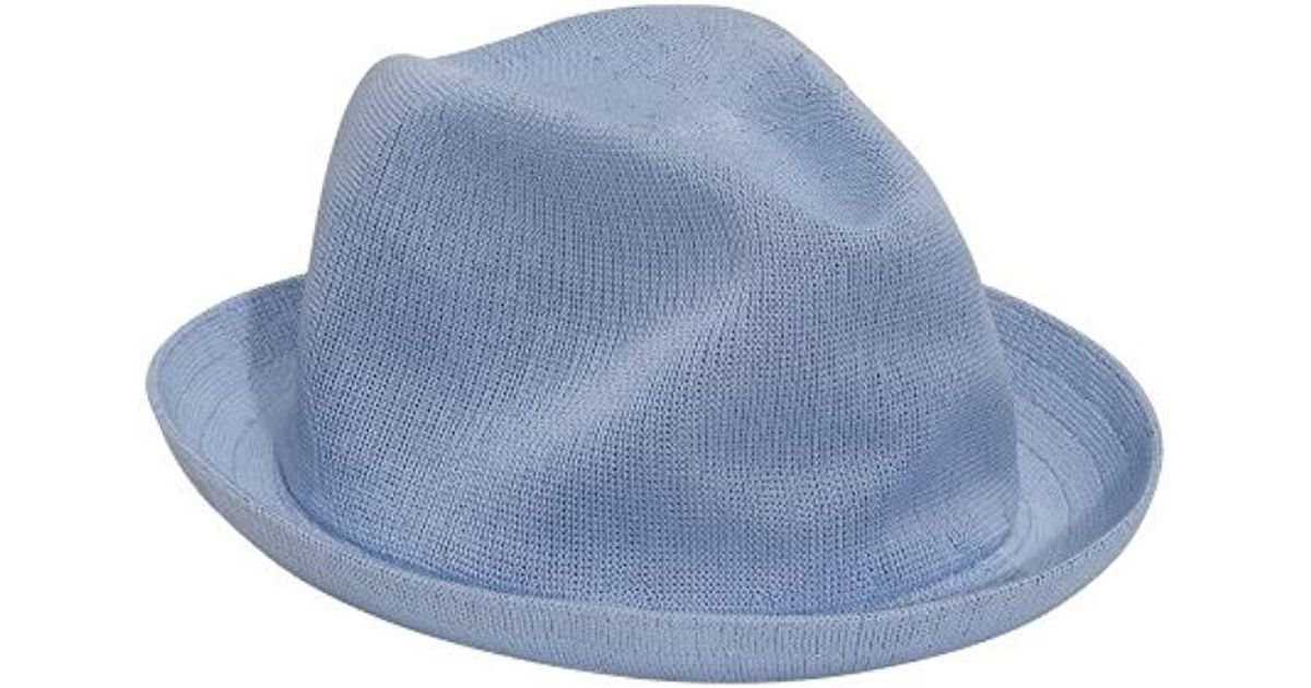 e38ef7b231af7 Lyst - Kangol Tropic Player Fedora Hat in Blue for Men