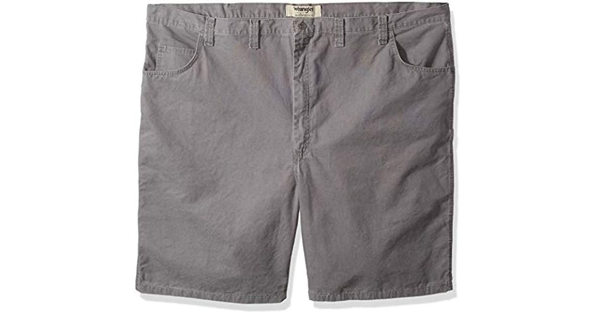 4a415383ad Lyst - Wrangler Authentics Big & Tall Classic Relaxed Fit Carpenter Short  in Gray for Men