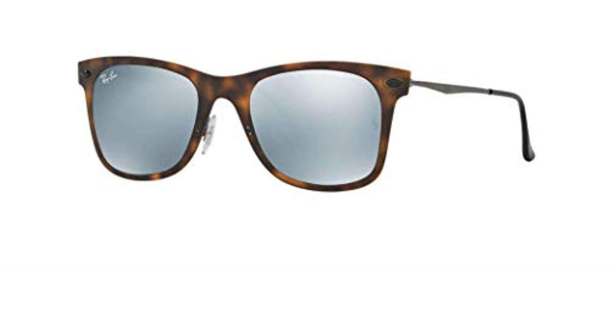 08fc2047bf Lyst - Ray-Ban Wayfarer Light Ray Rb4210 - 624430 Sunglasses ...