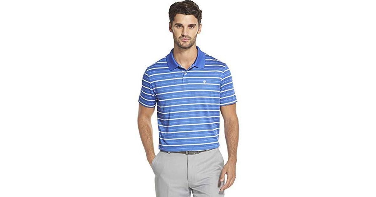 931737e4 Lyst - Izod Golf Prep Stripe Short Sleeve Polo Shirt in Blue for Men