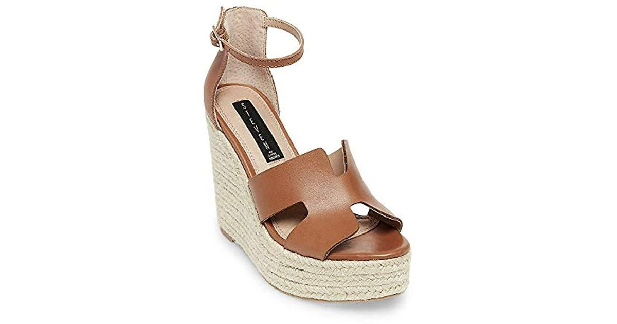 7f02f9857383 Lyst - Steve Madden Sirena Cognac Leather Sandal 10 Us in Brown