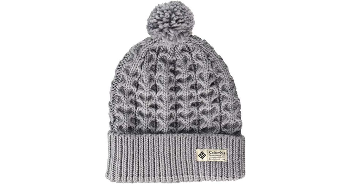 5ad01f83d0c487 Lyst - Columbia Hideaway Haven Beanie in Gray