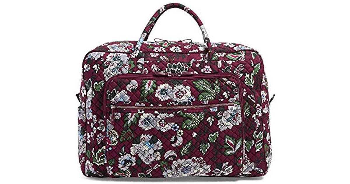 Lyst - Vera Bradley Iconic Grand Weekender Travel Bag ba9704c3ff311