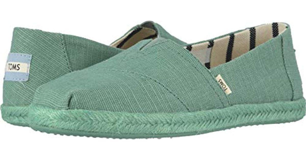 efbdbf24b21 Lyst - TOMS Seasonal Classics Slip On Shoes in Green