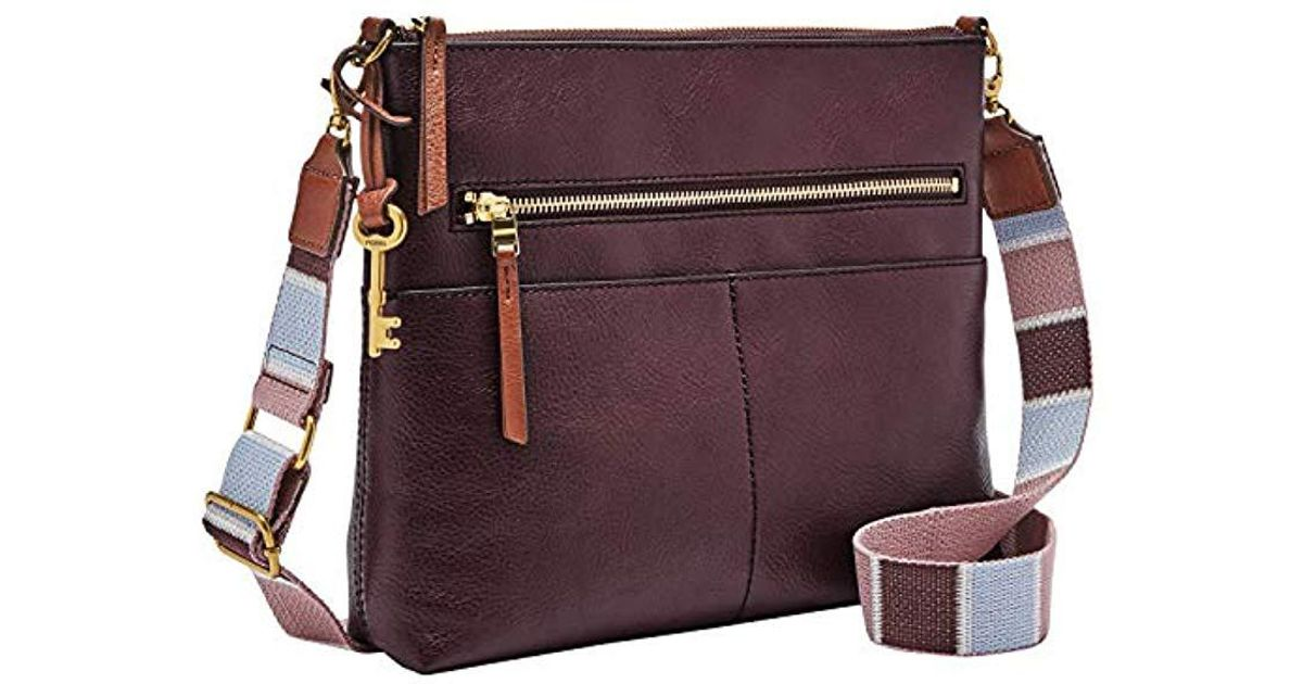 c5df1c966a Lyst - Fossil Fiona Large Crossbody Bag in Purple