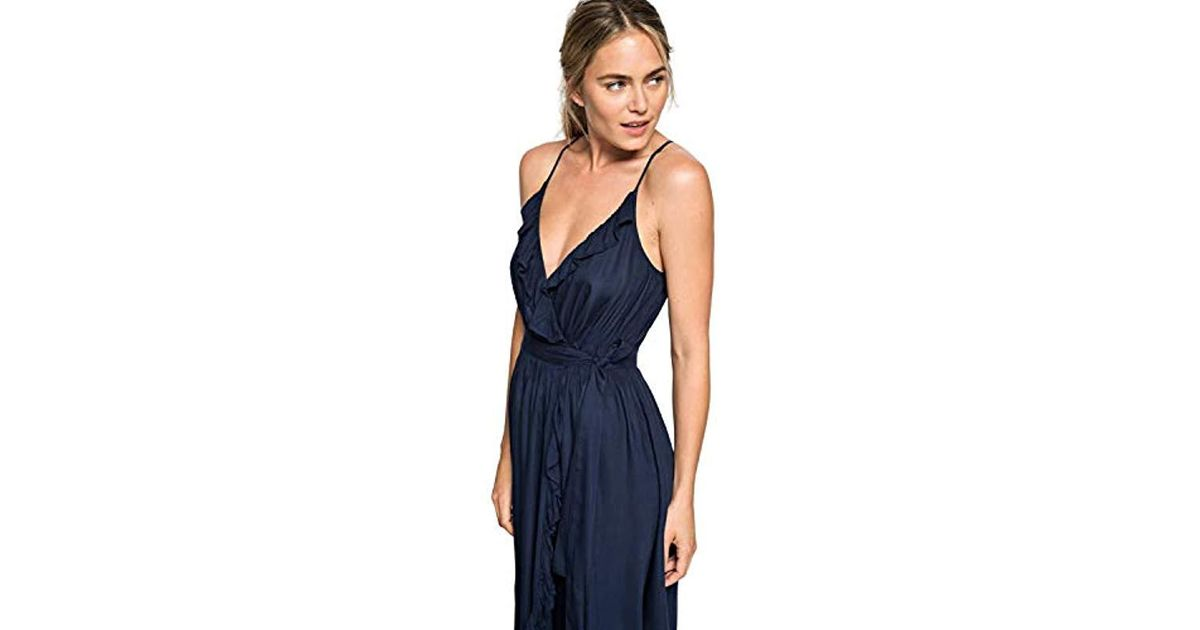 9ec86bc5c7 Lyst - Roxy Rooftop Sunrise Wrap Dress in Blue - Save 1.818181818181813%