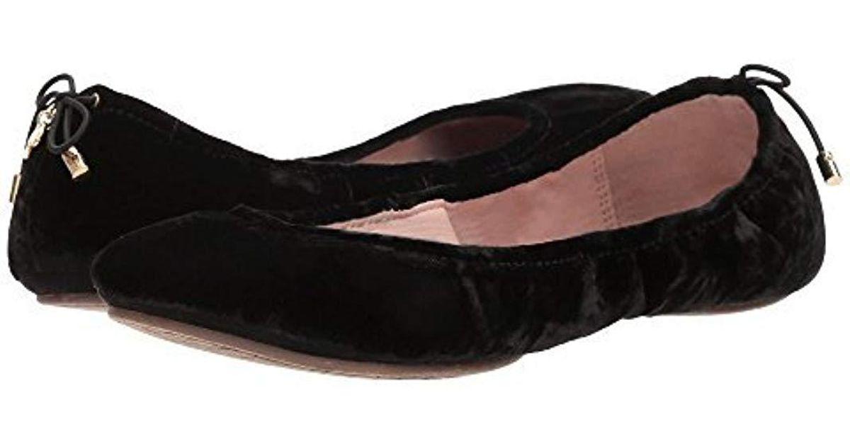 20e3102334c1 Lyst - Kate Spade Globe Ballet Flat in Black