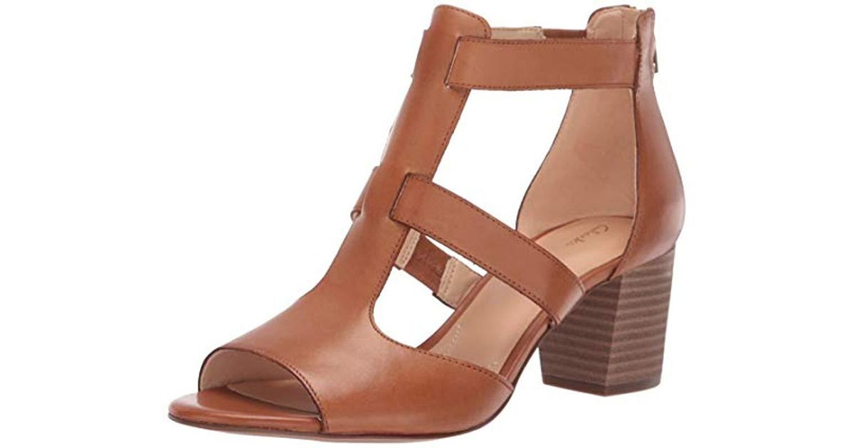 8d75e68b269 Lyst - Clarks Deloria Fae Womens Open Toe Block Heel Sandals in Brown - Save  47%