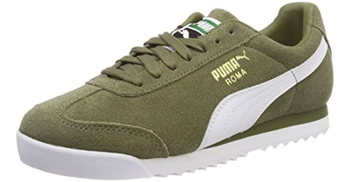 2b33ad4f566201 Puma Unisex Adults  Roma Suede Trainers in Green for Men - Lyst