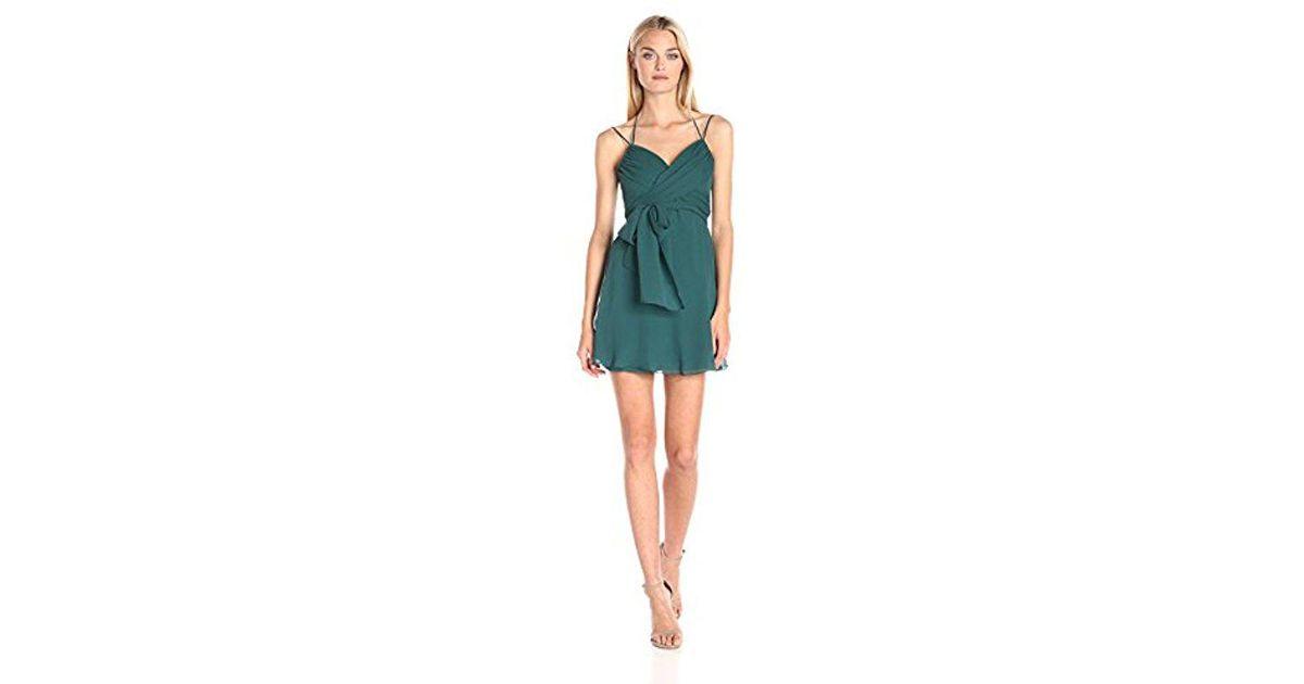 933c585595a BCBGMAXAZRIA Bcbgmax Azria Shay Halter Front Evening Dress in Green - Lyst