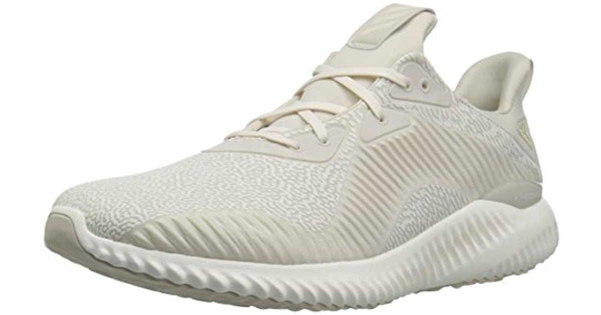 lyst adidas alphabounce hpc ams m scarpa da corsa in bianco.