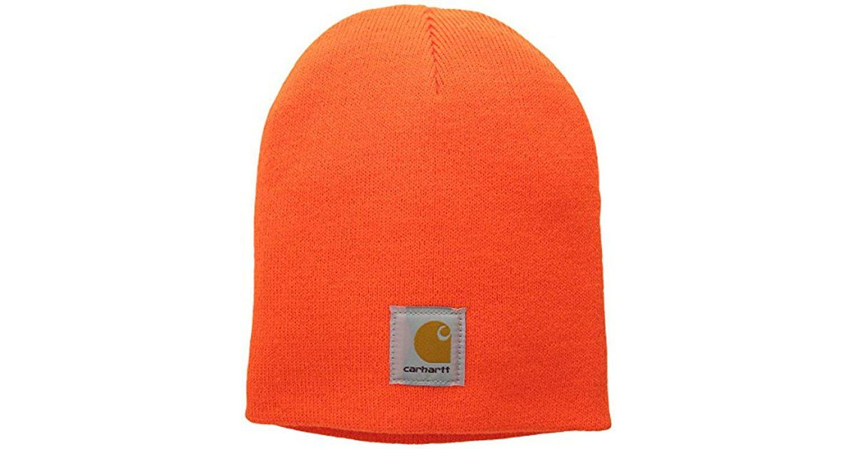 261922f3aec Lyst - Carhartt Acrylic Knit Hat A205 in Orange for Men