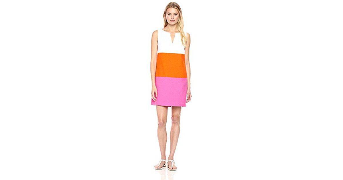 Trina Turk Womens Miss Brady 2 Colorbock Dress