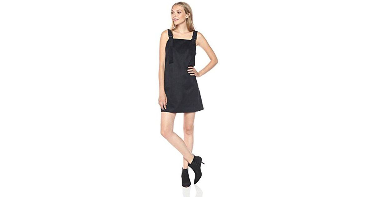Lyst Kensie Stretch Suede Pinup Dress In Black