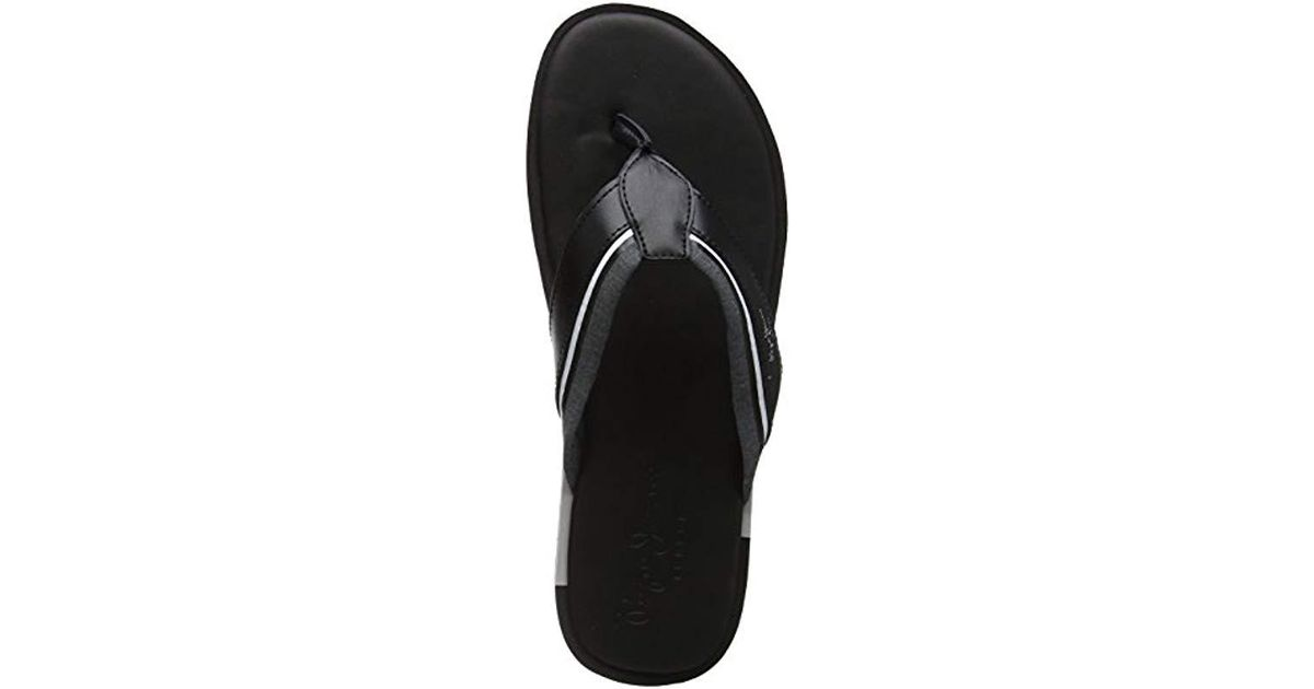 1e9e66c5098c22 Pepe Jeans  s Barrel Fabric Flip Flops Blue in Black for Men - Lyst