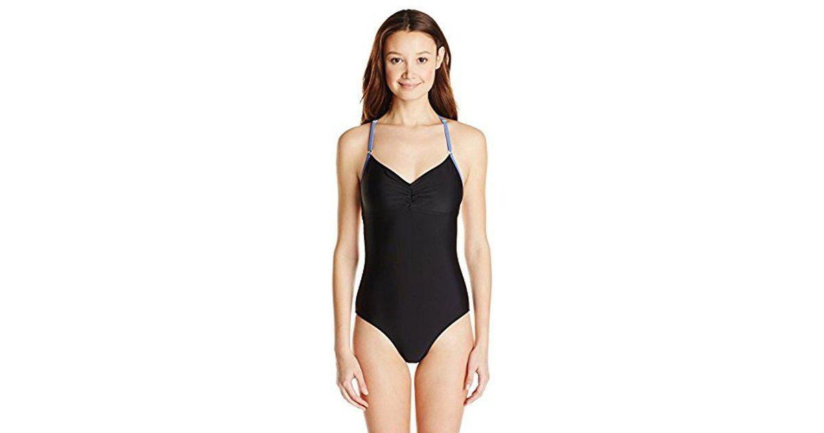 7d0833f1831fe Lyst - Roxy Juniors Fast Start One-piece Swimsuit in Black