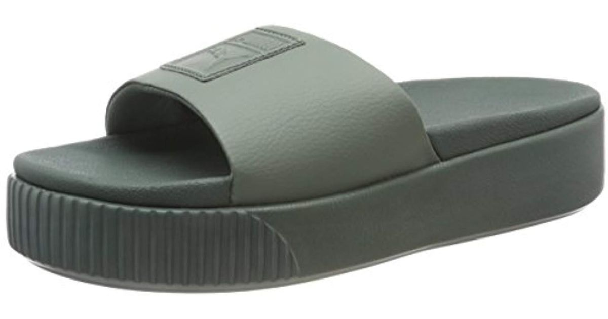 0f90b5e906b Puma Platform Slide Wns Beach   Pool Shoes in Gray - Lyst