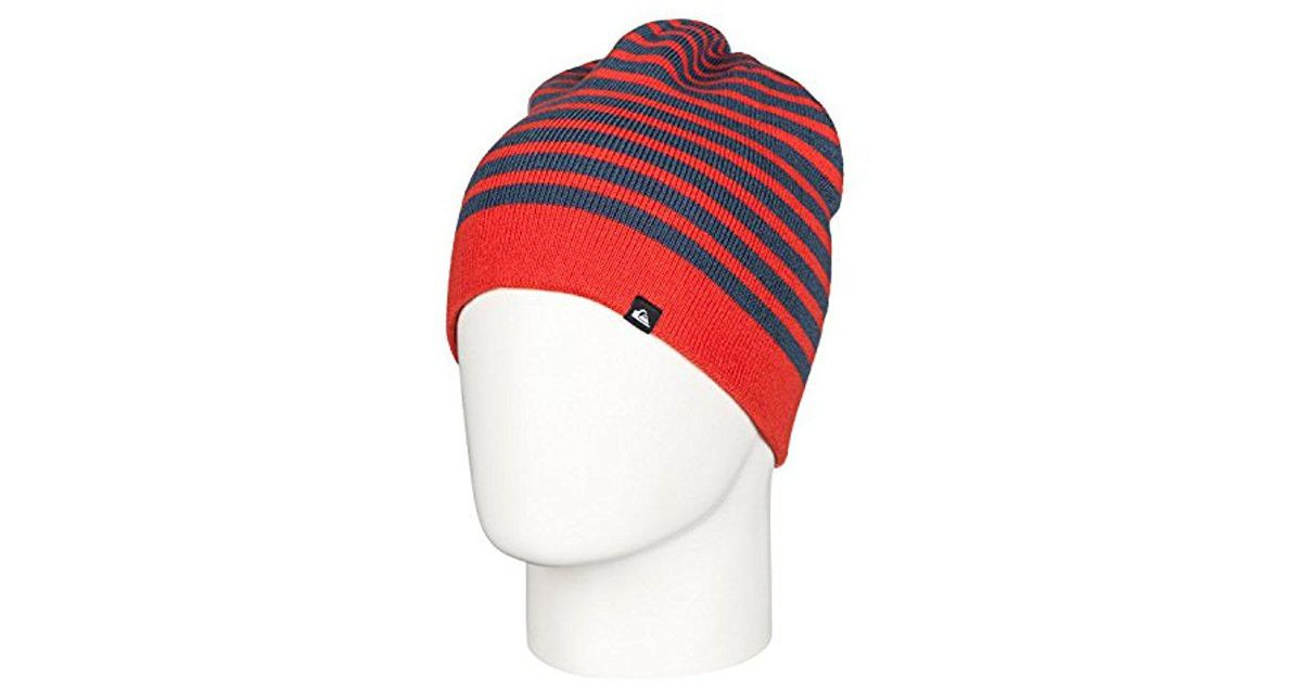 75ced155fd0 Lyst - Quiksilver Snow Preference Beanie in Red for Men