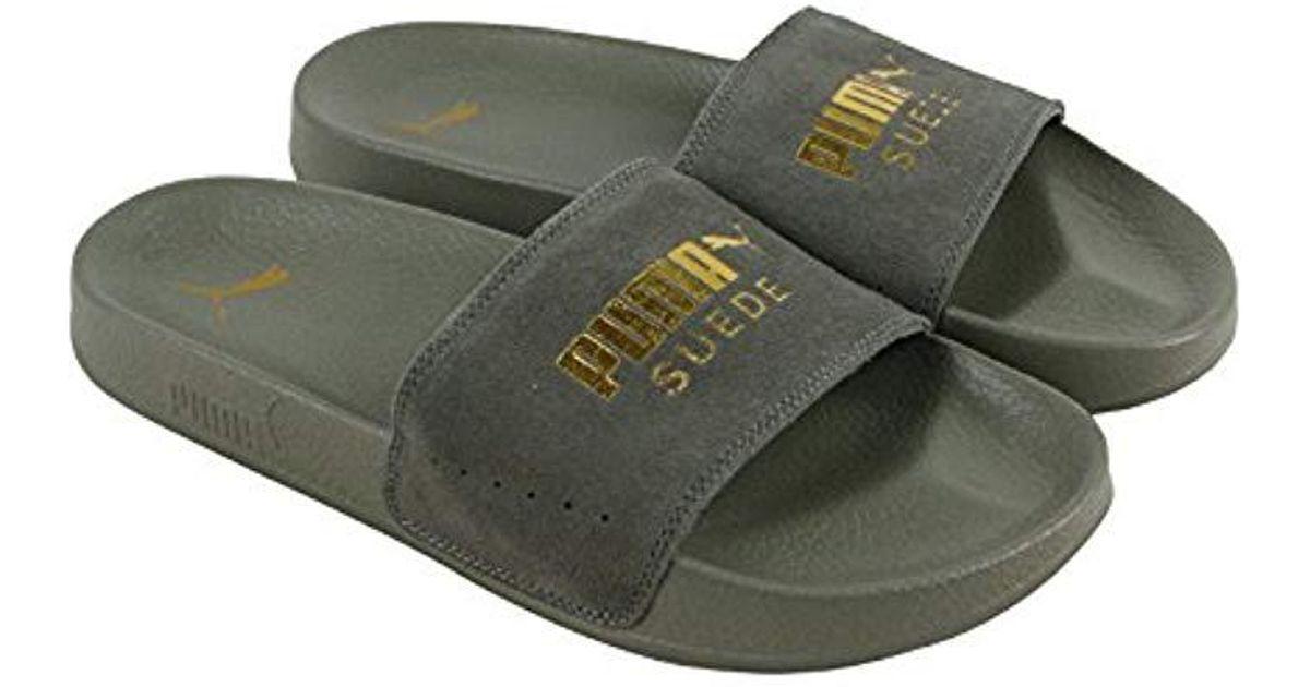 8f621c3e7e2e95 Lyst - PUMA Leadcat Suede Slide Sandal in Gray for Men