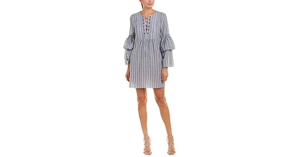 2dcd6aa6e9faf5 Lyst - BCBGMAXAZRIA Charlyze Woven Casual Dress in Gray - Save 72%