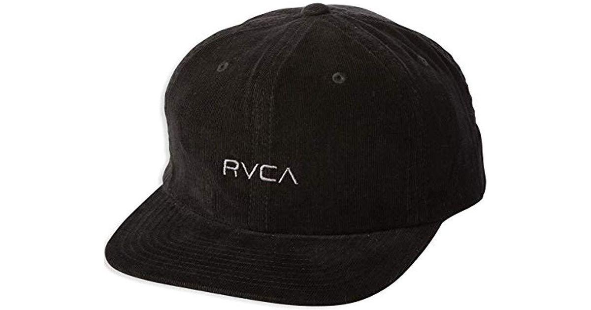 Lyst - Rvca Tonally Low Cap in Black for Men 7484d1db335b