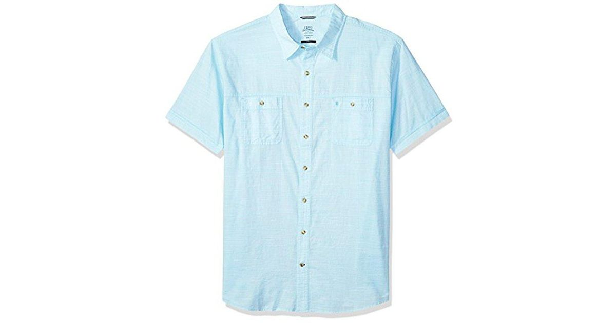 d5a5d8a9 Lyst - Izod Big And Tall Saltwater Chambray Solid Short Sleeve Shirt in  Blue for Men