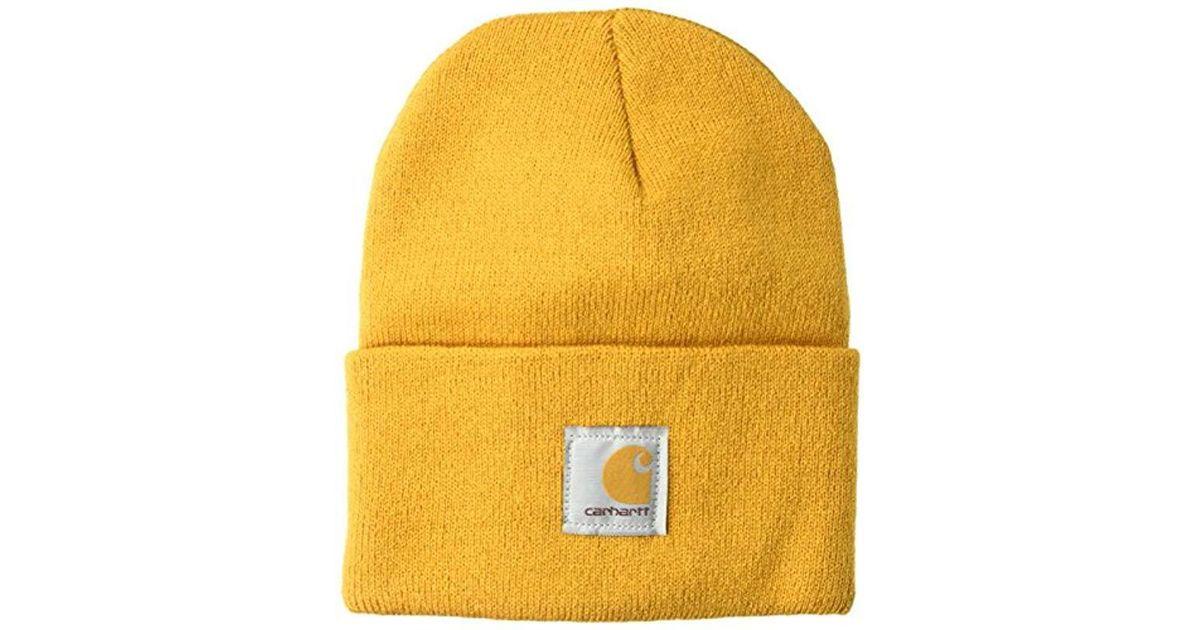 ebefe9d174 Carhartt Acrylic Watch Hat A18 in Yellow for Men - Lyst