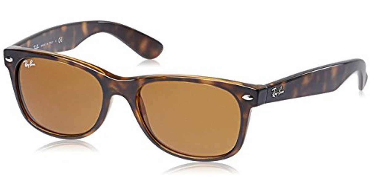 Lyst - Ray-Ban Ray Ban Jr. New Wayfarer Sunglasses, 55mm, Shiny ...