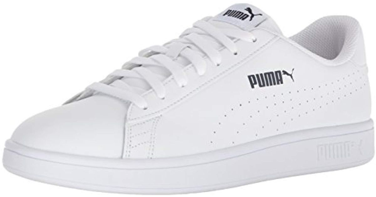 Lyst - PUMA Smash Leather Perf Sneaker in White for Men - Save 40% e0b173a38