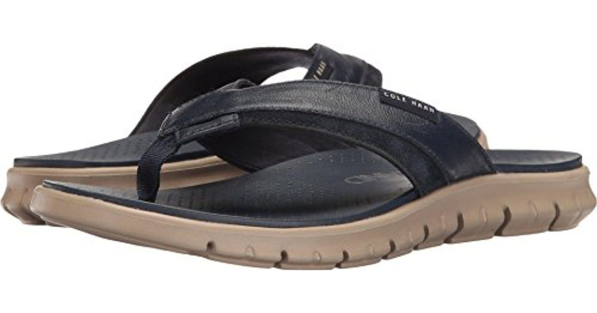 42290f8bfdf7 Lyst - Cole Haan Zerogrand Fold Thong Flip Flop in Blue for Men