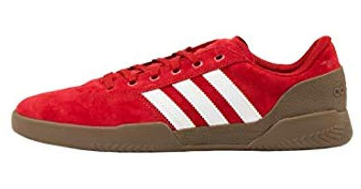Adidas Red F36855 City Cup Trainers In Scarletftwwhtgum5 (uk 8.5, Scarlet) for Men Lyst