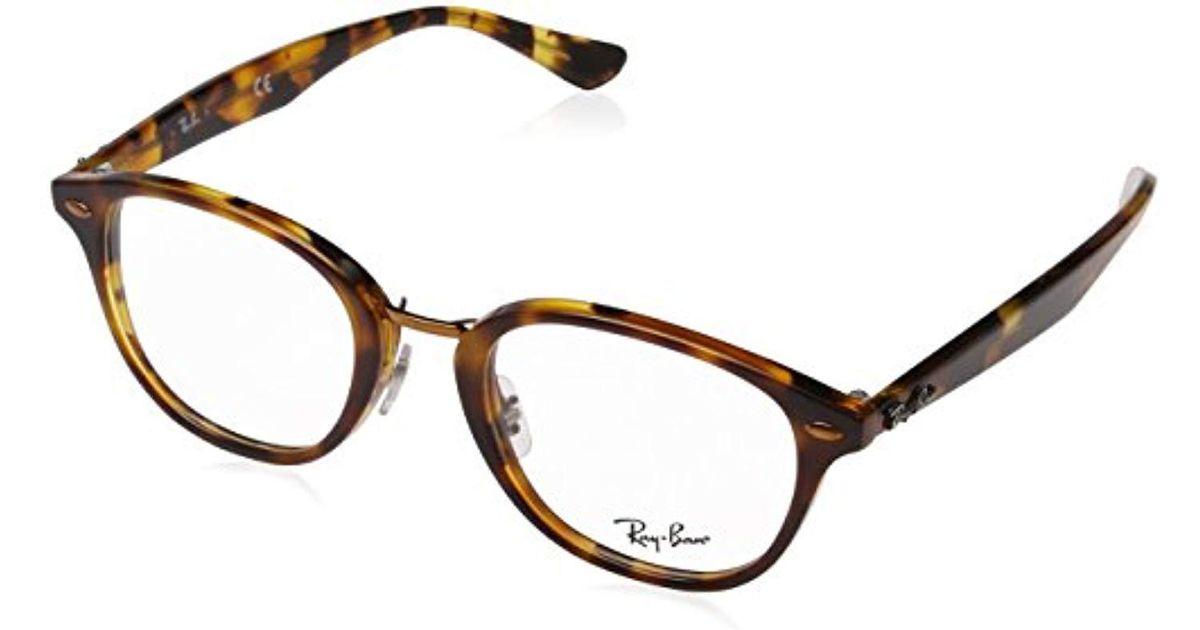 fef6048f4e Ray-Ban Rx5355 Glasses In Havana Brown On Havana Yellow Rx5355 5675 50 in  Brown - Lyst