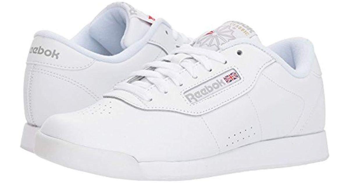 2e44e08e286 Lyst Reebok Princess Sneaker In White Save 5 263157894736835