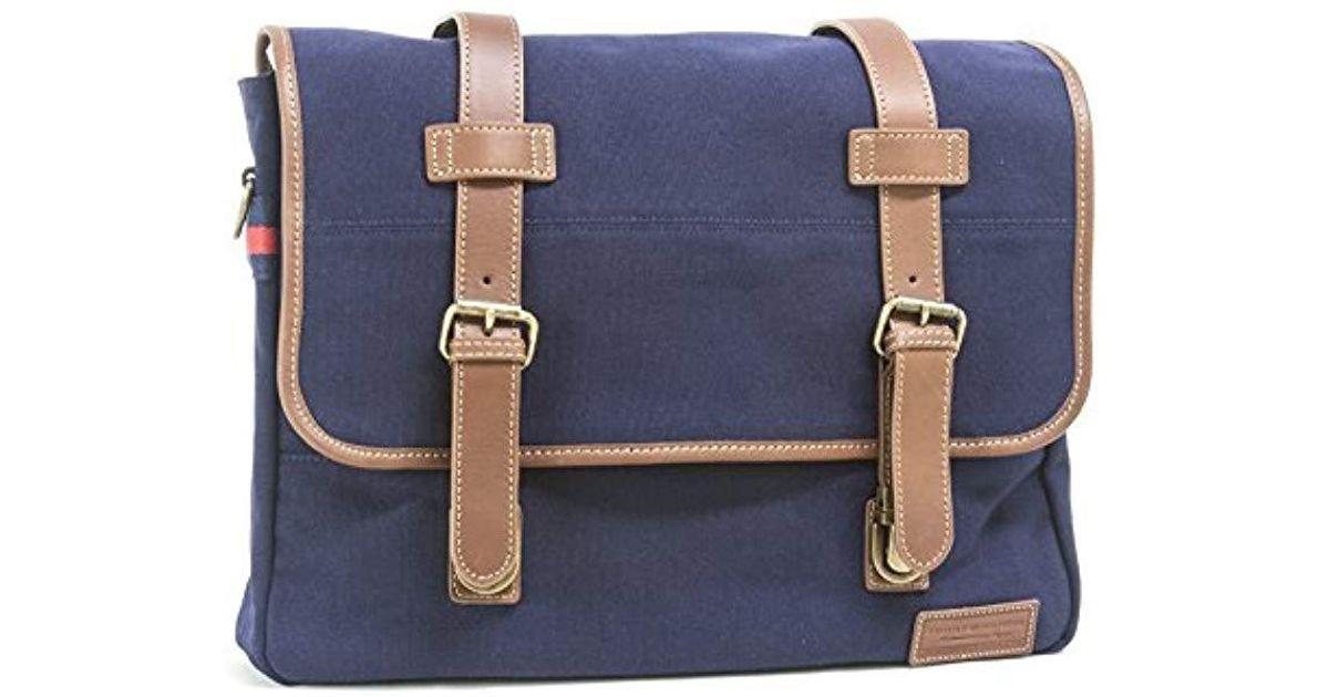 d39cc9ebb7 Tommy Hilfiger Workhorse Canvas Messenger Bag in Blue for Men - Lyst