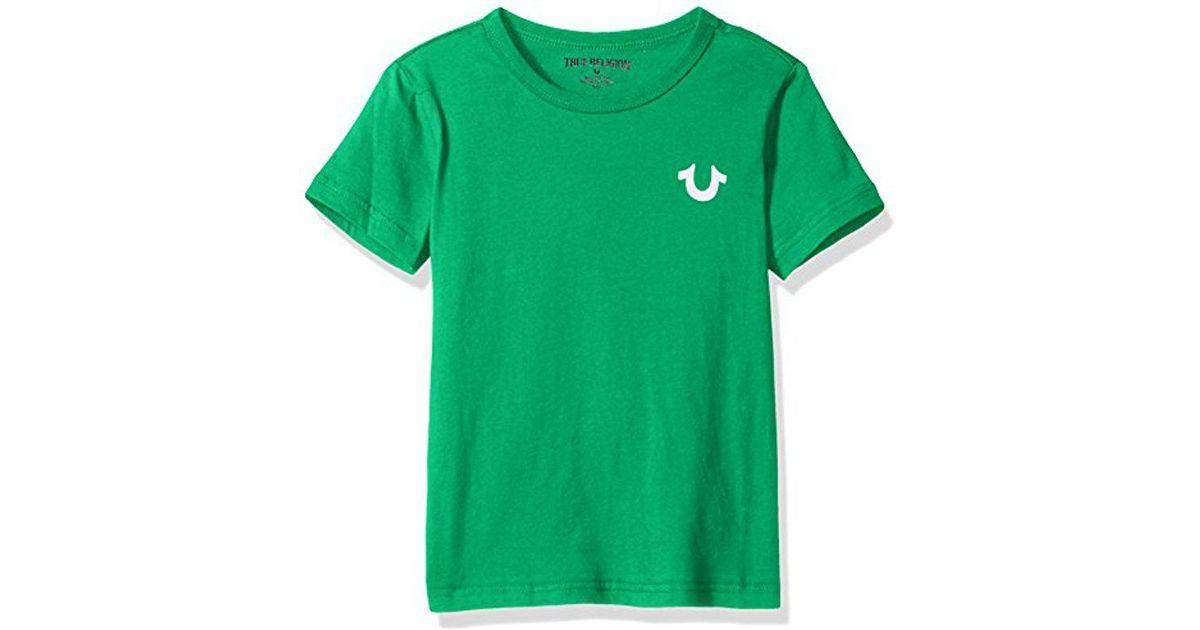 4480d5944 True Religion Little Boys' Branded Logo Tee Shirt, Buddha Bright Green, 7  in Green for Men - Lyst