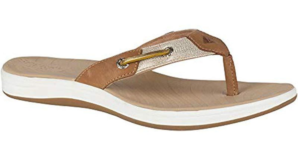 96b554618eede Lyst - Sperry Top-Sider Seabrook Surf Metallic (tan) Women s Shoes