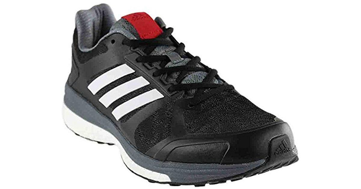 2fa30be876411 Adidas - Black Supernova Sequence Boost 8 Running Shoe for Men - Lyst