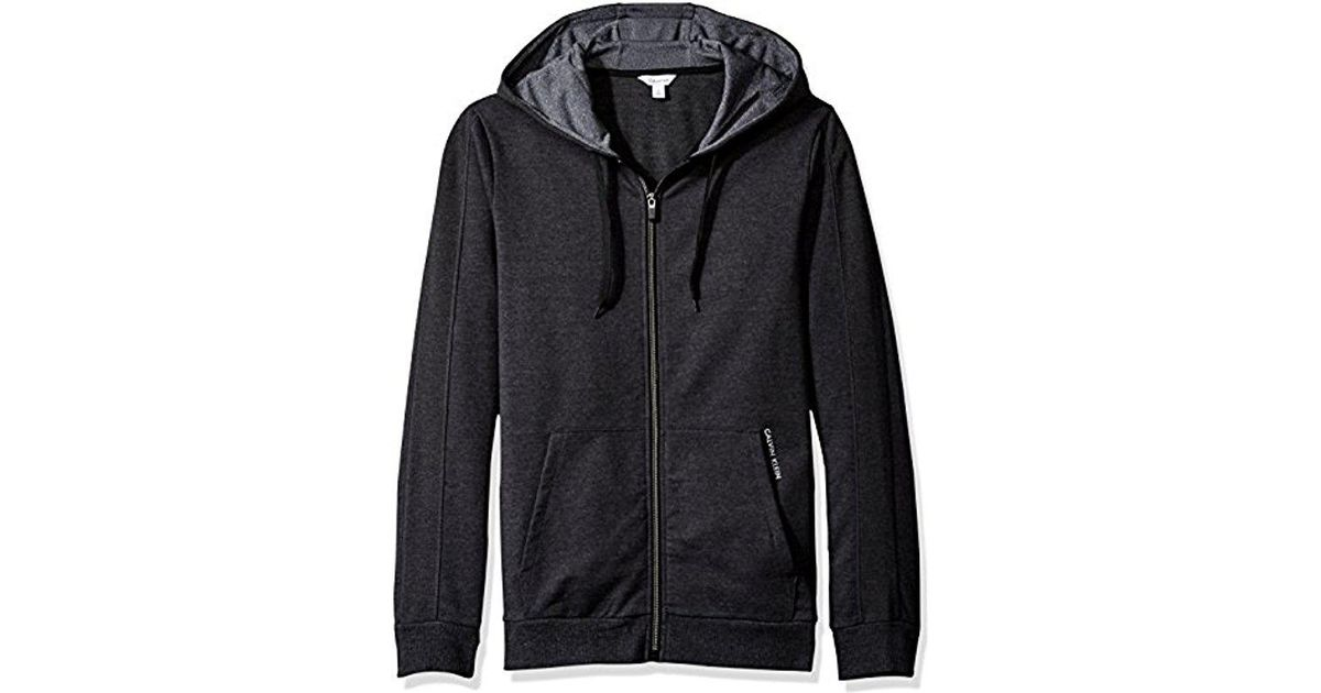 6d7e769f98ae4 Lyst - Calvin Klein French Terry Color Block Hoodie in Black for Men