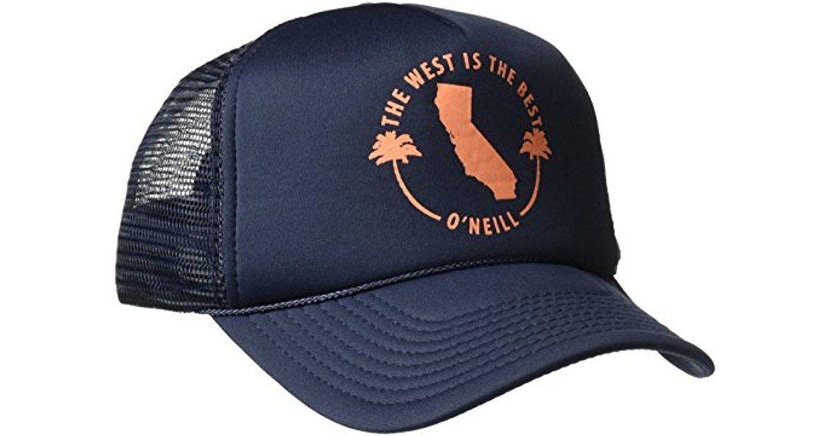 d3800877 O'neill Sportswear Haven Screen Print Trucker Hat in Blue for Men - Lyst