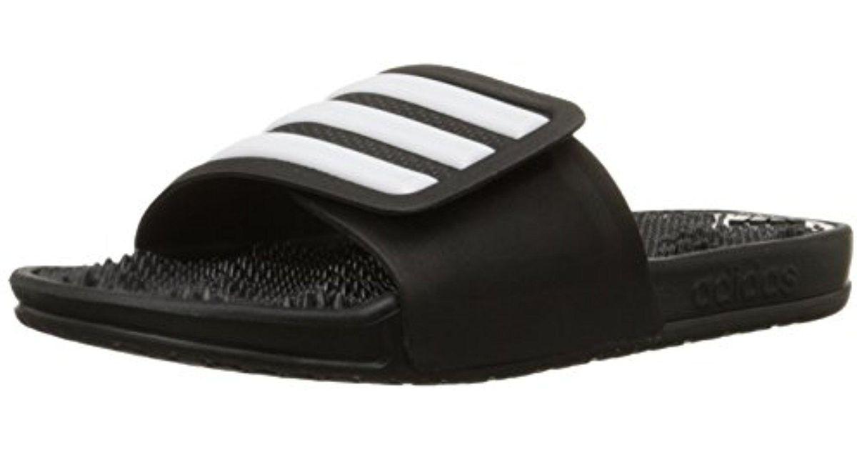 1e23597a2631 Lyst - adidas Adissage 2.0 Stripes Flip Flops in Black for Men